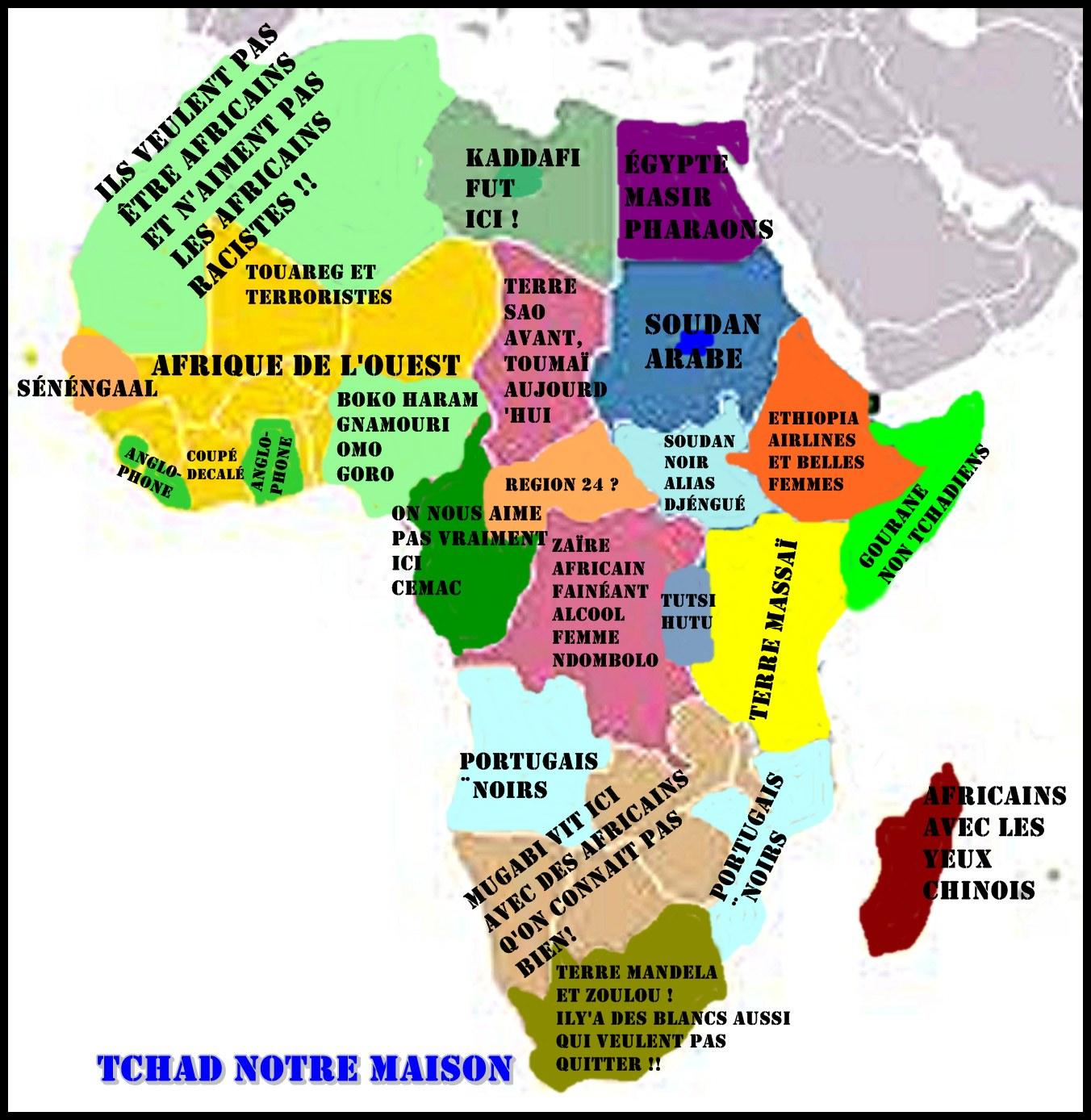Favori RIRE: La carte de l'Afrique simplifiée par un tchadien lambda  QV61